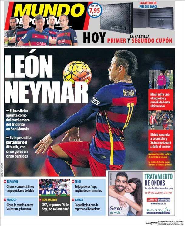 Portada del periódico Mundo Deportivo, martes 19 de enero de 2016