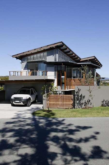 Peregian Beach House, Skillion roof, bark architects