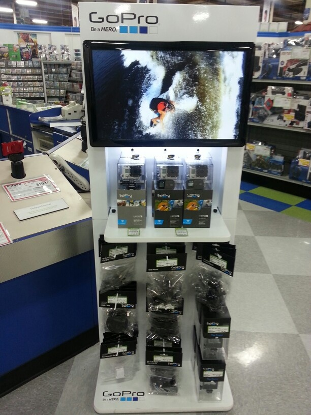 My Go Pro display at work Cameras & photography tricks