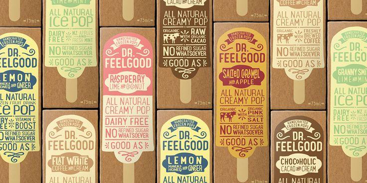 Dr.Feelgood Frozen Pops — The Dieline - Branding & Packaging