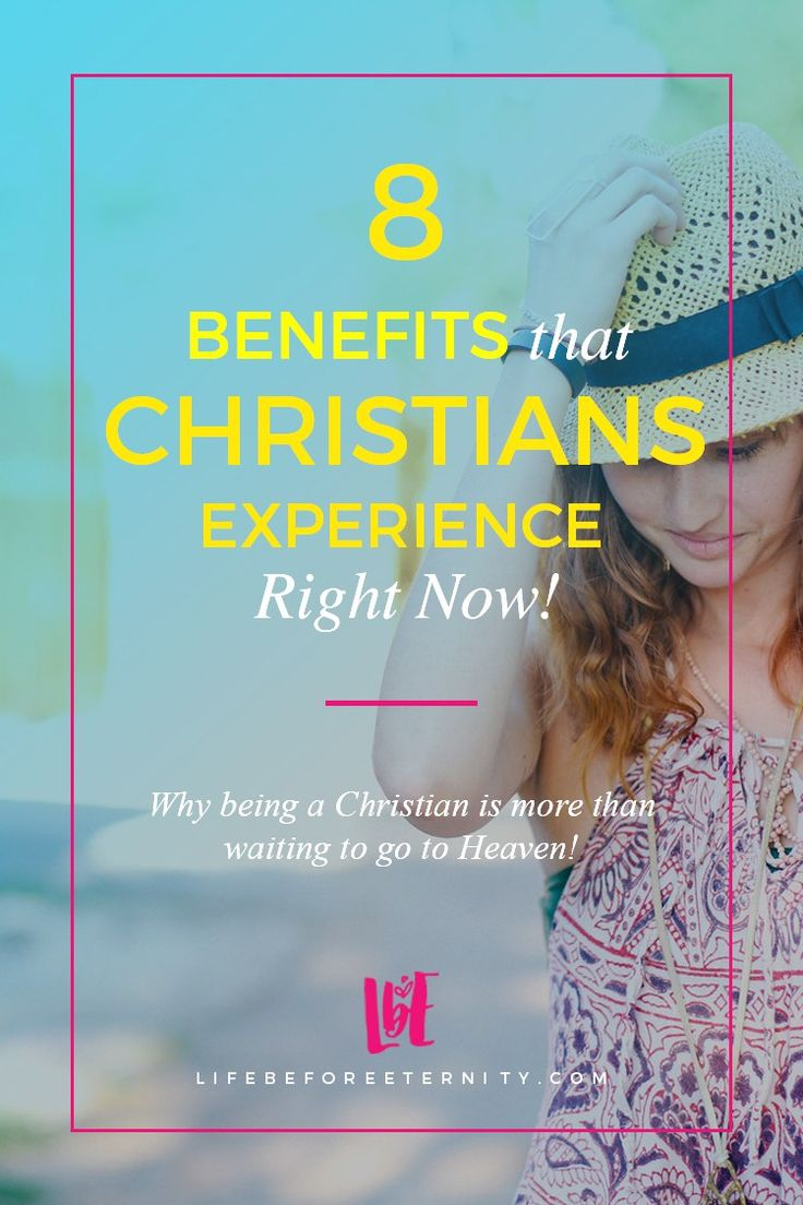 8 Benefits that Christians Experience Right Now! | Wondering what the Christian faith has to offer? Christian living is more than waiting to go to Heaven! Read about how our faith helps us live abundantly right now! Read it now or pin it for later! <3
