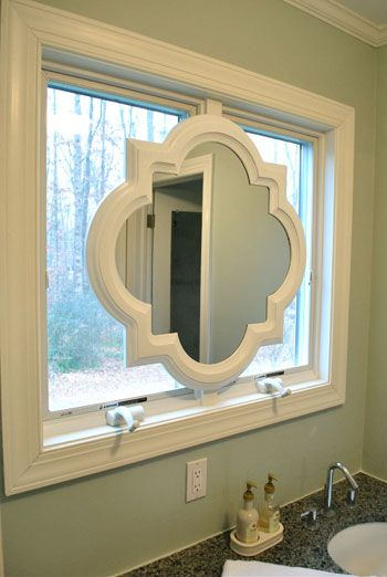Painting Our Quatrefoil Mirror Over The Sink The Two