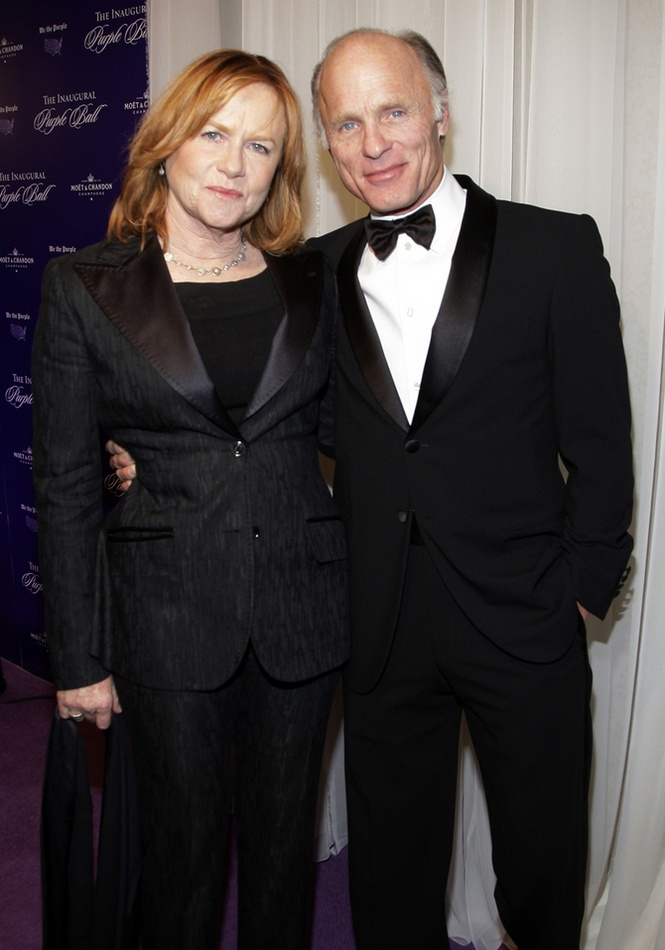 Amy Madigan with her husband Ed