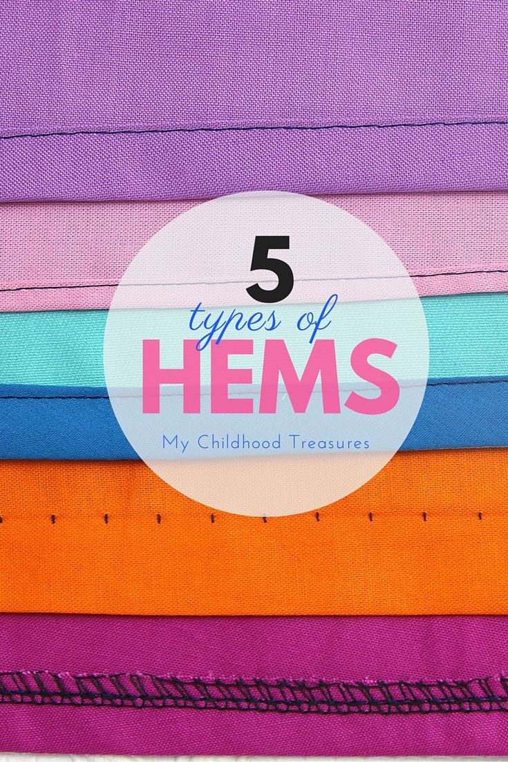 Learn how to sew 5 types of hems