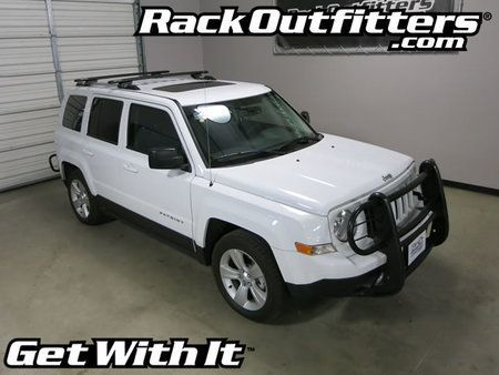 Jeep Patriot Rhino-Rack SX Vortex Aero BLACK Complete Base Roof Rack '07-'15*