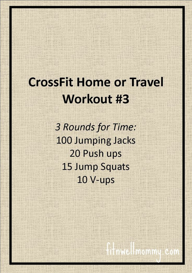 Crossfit home or travel workout #3