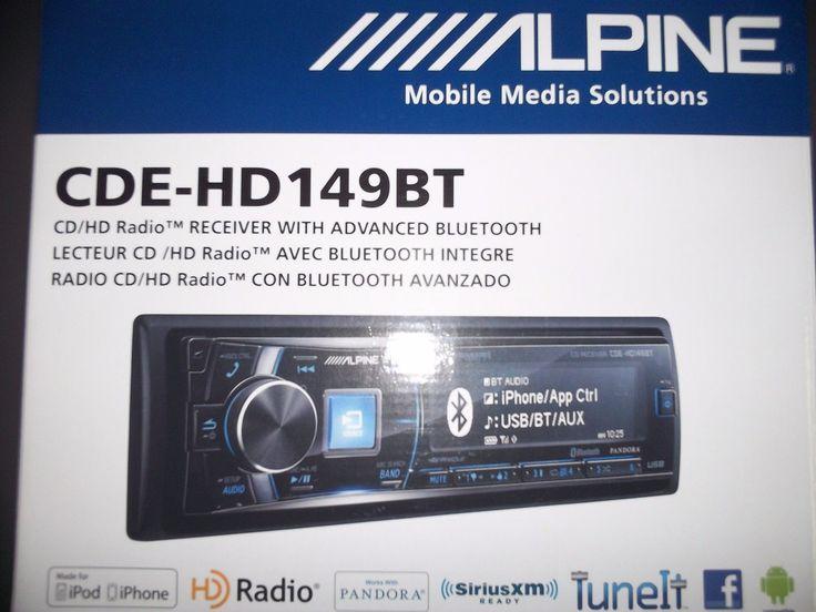 Car Audio In-Dash Units: Alpine Cde-Hd149bt Am Fm Receiver Cd Mp3 Bluetooth And Hd Radio Tuner -> BUY IT NOW ONLY: $226.98 on eBay!