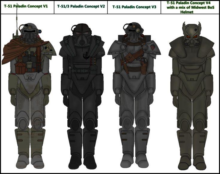 Fallout BoS Paladin Variants by Milosh--Andrich on DeviantArt