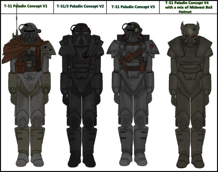 Fallout BoS Paladin Variants by Milosh--Andrich on DeviantArt
