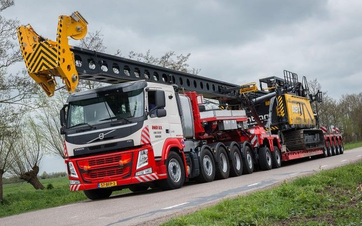 Nooteboom EURO-PX 2+5 and Volvo FM 5-axle line Heavy Duty Prime Mover for Boer B.V.