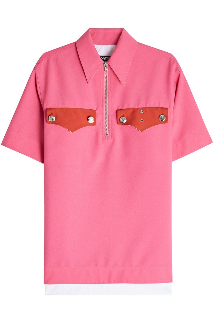 CALVIN KLEIN 205W39NYC POLO SHIRT WITH EMBOSSED BUTTONS. #calvinklein205w39nyc #cloth #
