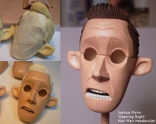 Joshua Flynn: Puppet Head sculpt - Mail Man - STEP 04