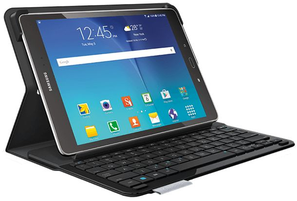 Samsung Galaxy Tab S (black with Logitech keyboard and cover)