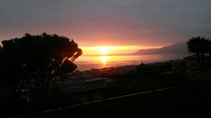 November sunset from via dei Colli, Bordighera, Liguria (ITALIA)