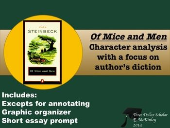 the character crook from steinbecks novel essay In the novel of mice of men, john steinbeck describes the difficulty of friendship owing to unsuccessful and stressful ranch life however, george and lennie trump these hardships because they have a special bond that is never broken.