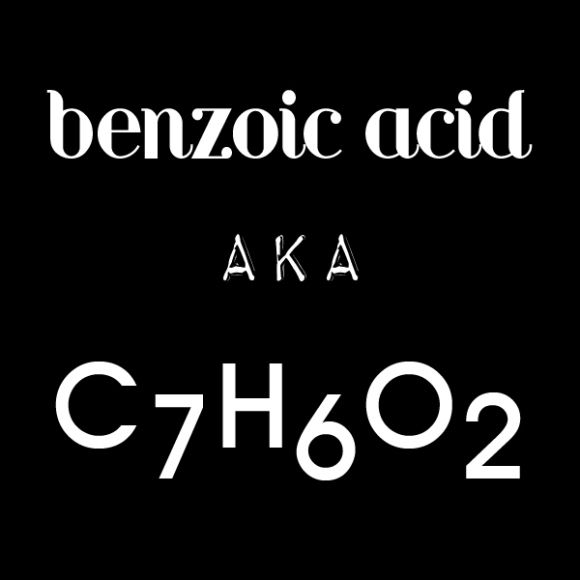 What is benzoic acid? (other than being one of my 24 allergies)