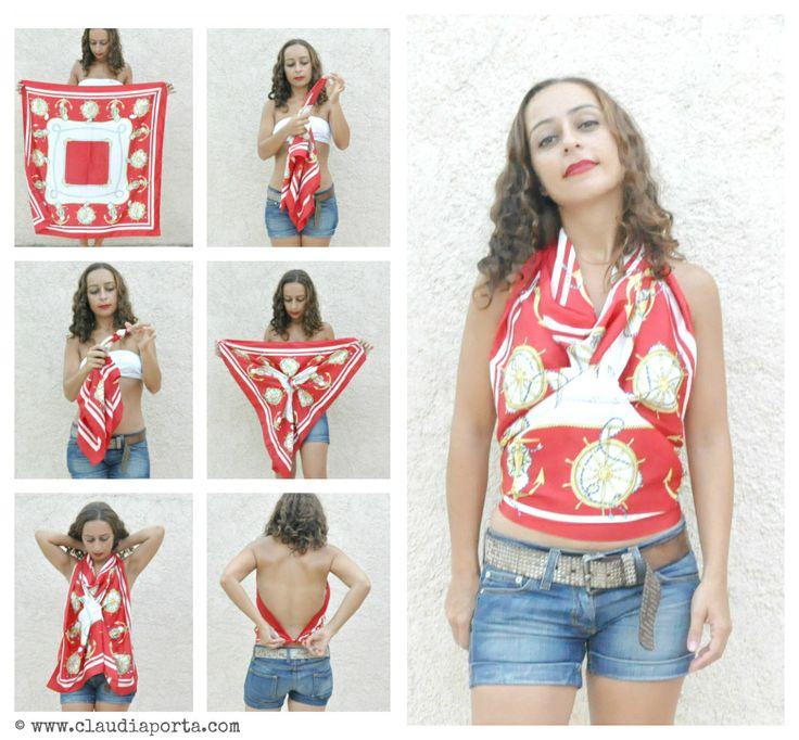DIY foulard top