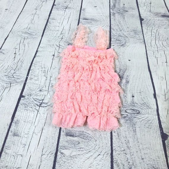 Pink petti romper for baby girls petti by RascalsRhinestones