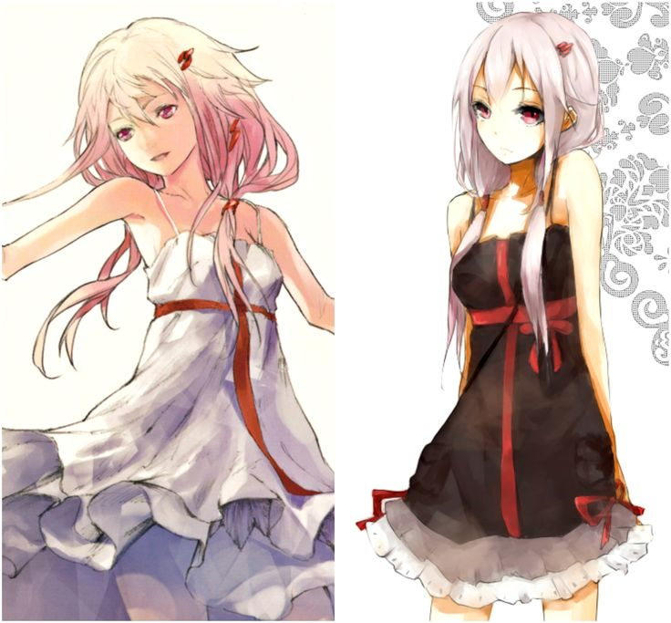 Guilty Crown Inori in her white and black dress