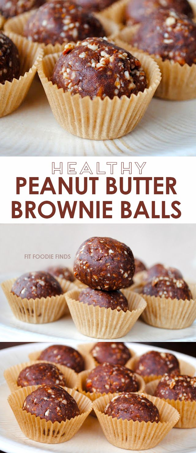 Peanut Butter Brownie Balls - FitFoodieFinds.com  | Part of the #SummerSWEATSeries Week 3 Meal Plan - love this healthy snack!