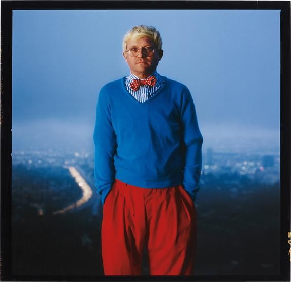 David Hockney, Los Angeles by ANNIE LEIBOVITZ, 1983. Archival pigment print.