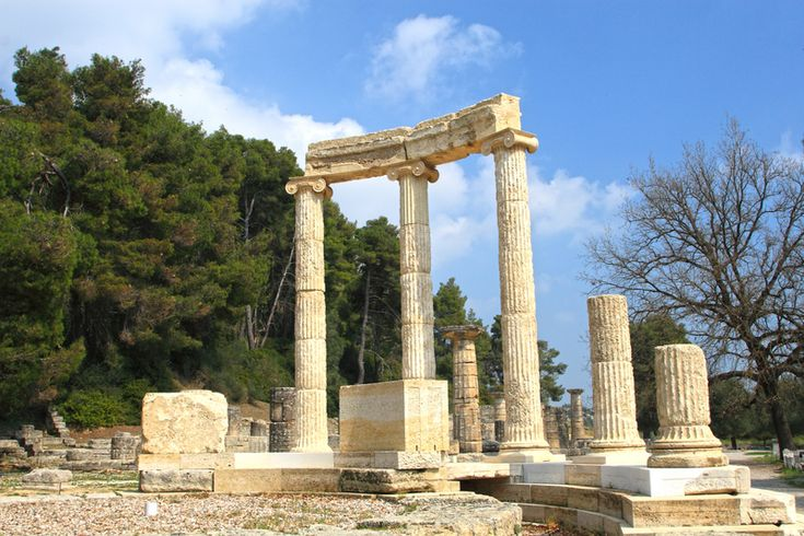 Ancient Greek Architecture. Olympia, site of the original ...