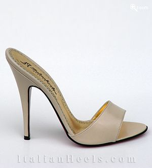 ItalianHeels.com: slippers: Ametista 2228 - 4 1/2'  stiletto Beige Slippers