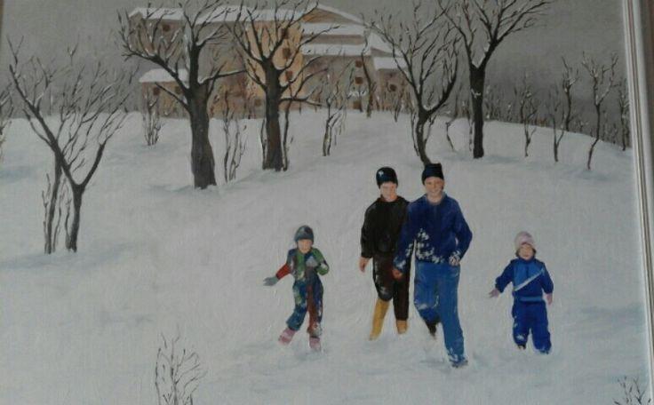 Corsa nella neve