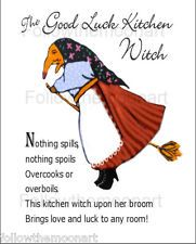 kitchen witch doll - Google Search: 'The Good Luck Kitchen Witch ~ Nothing spills, nothing spoils, Overcooks or over boils, This kitchen witch upon her broom brings love and luck to any room!