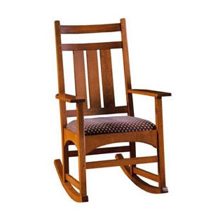 Perfect for a farmer's porch, but without the attached cushion. Harvey Ellis Rocker via Stickley