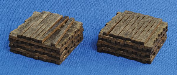 Blair Line 2811 - Pile O' Ties - Assembled - Stained pkg(2) (184-2811) - Walthers Model Railroading