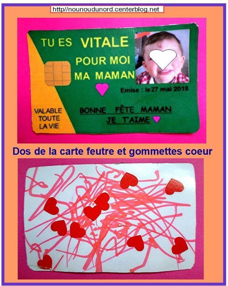 Carte Vitale Pour La Fete Des Meres Carte Des Fete La Meres