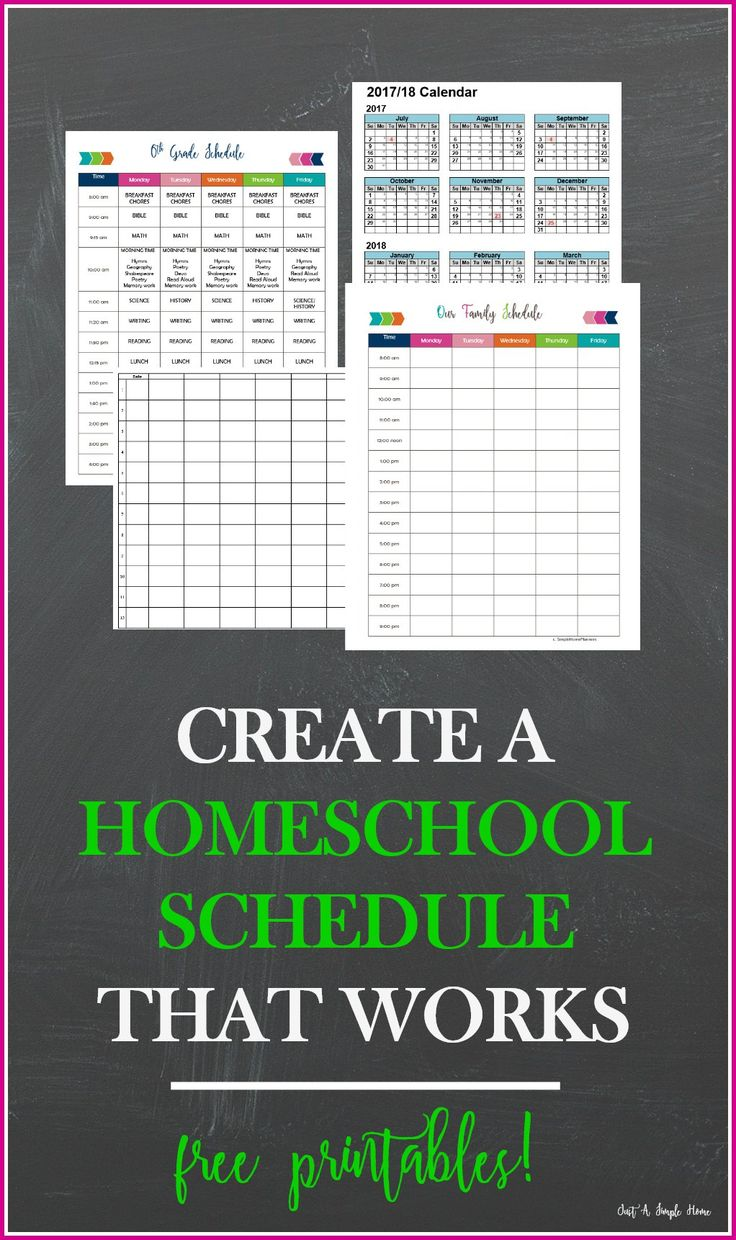 Create a Homeschool Schedule That Works with Free Planning Printables! Part of 10 Days of Homeschool Planning. Create a yearly, weekly and daily homeschool schedule that works for your family.