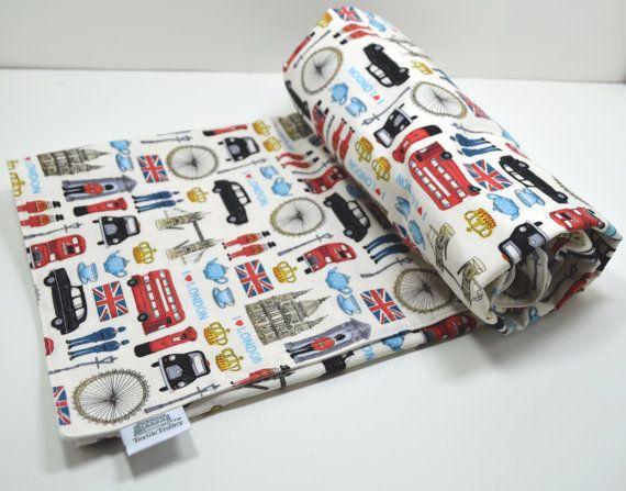 Baby Blanket / London Baby Blanket / British by TextileTrolley, $32.00