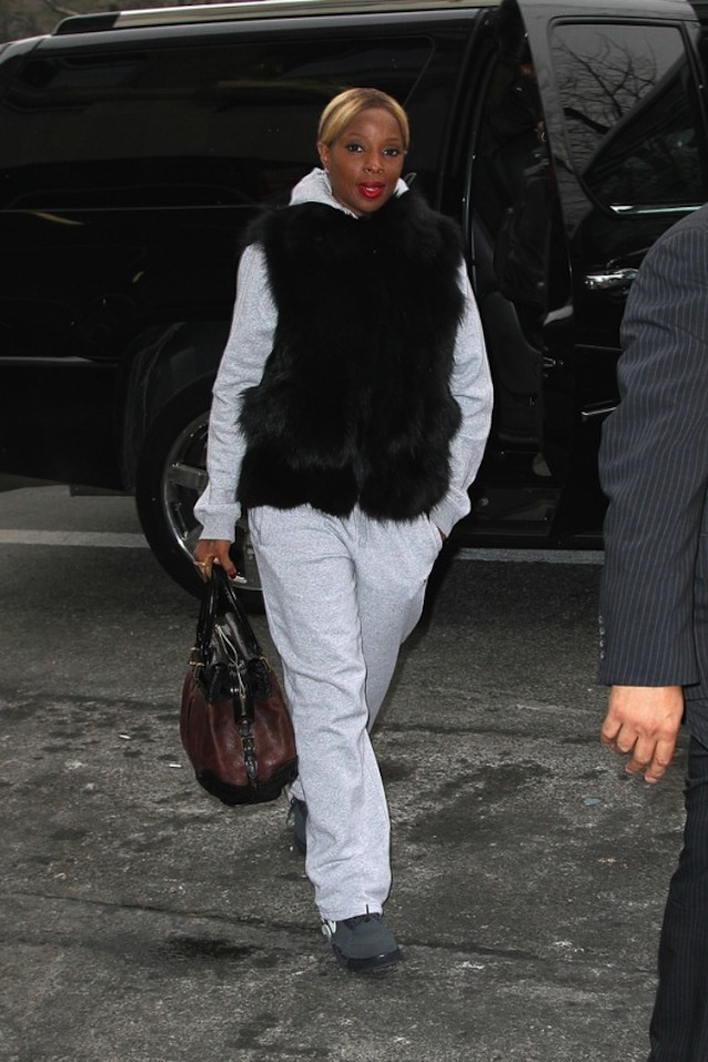 Mary J Blige wearing Nike Air Force 180 Mid