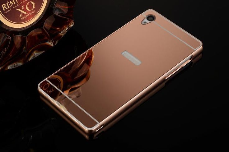 Luxury Aluminum plating Mirror case for Sony Xperia Z Z1 Z2 Z4 Z5 Z3 Z5 compact premium M4 aqua M5 C5 Metal Frame PC Back Cover