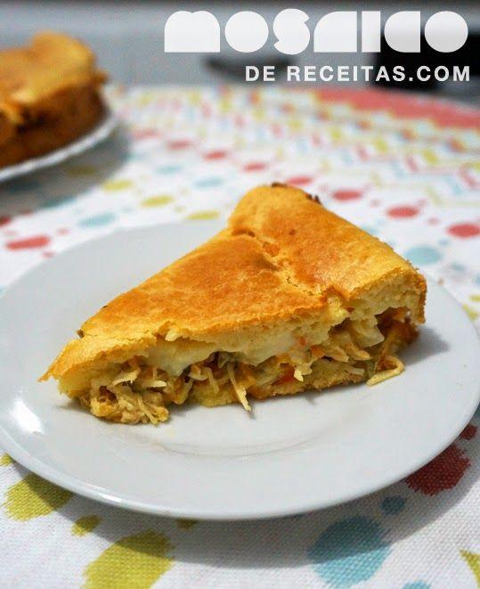 Mosaico de Receitas: Torta de Frango com Legumes e Massa de Mandioquinha