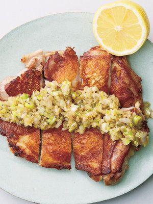 【ELLE a table】パリパリ中華チキンのねぎ塩だれ レシピ|エル・オンライン