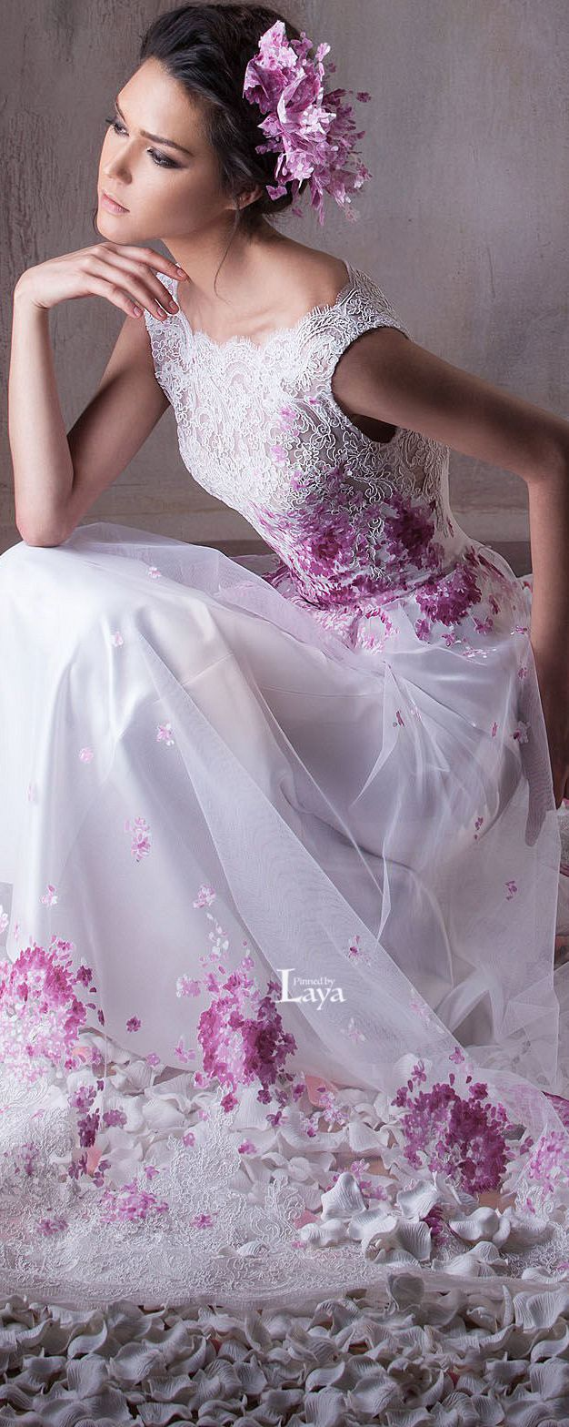 ♔LAYA♔HANNA TOUMA S/S 2015 COUTURE♔   ///   I love these gowns with the addition of beautiful flowers.