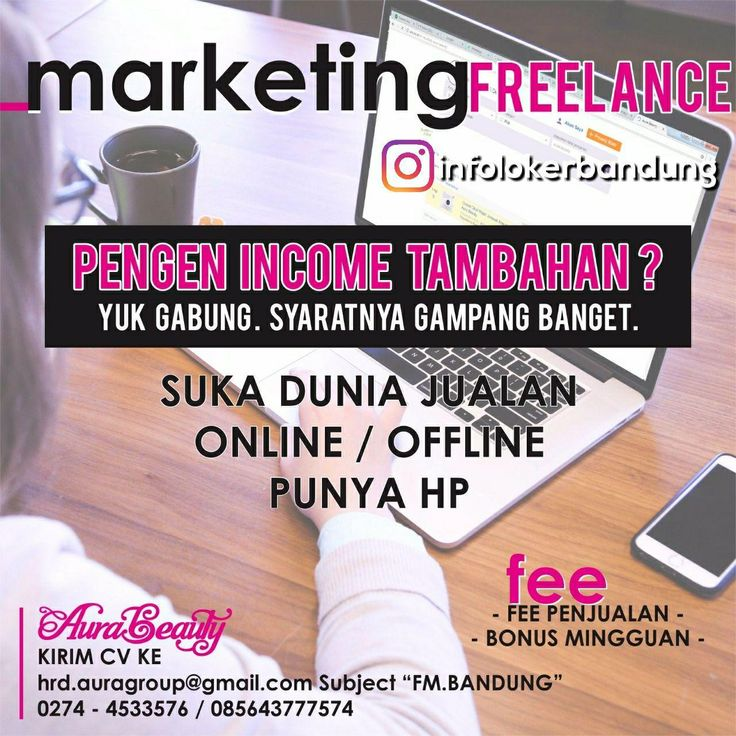 Lowongan Kerja Marketing Freelance Aura Beuaty Bandung Agustus 2017