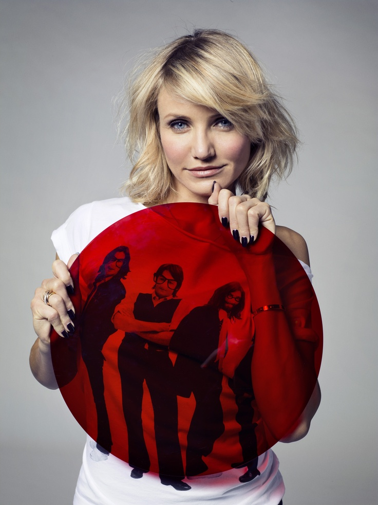 Cameron Diaz sporting a Comic Relief t-shirt. Hollywood A-listers also get in on the Red Nose Day fun.
