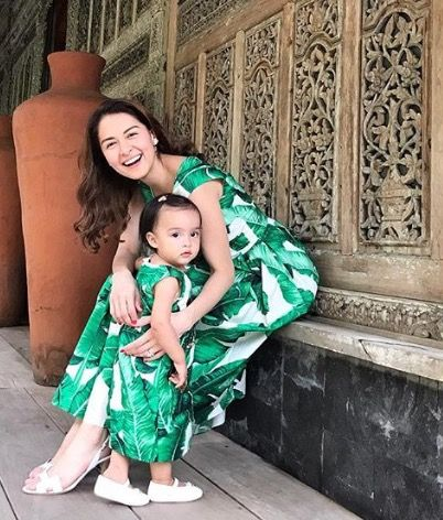 Artist Marian Rivera and her daughter Letizia