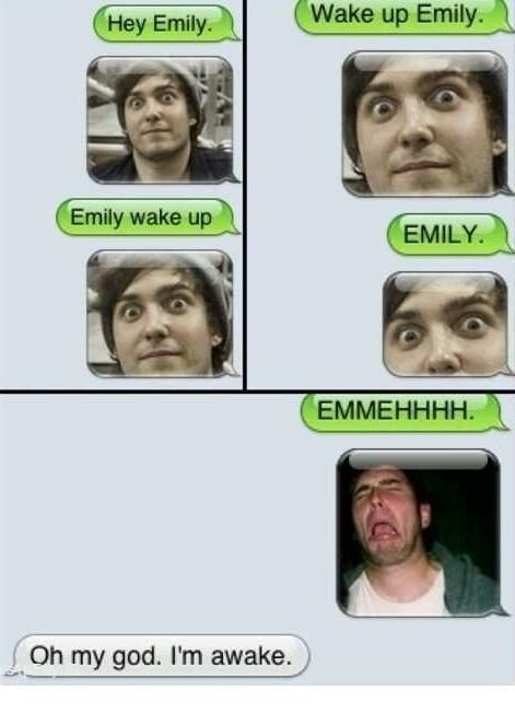 Most romantic way to wake up your girlfriend via text.