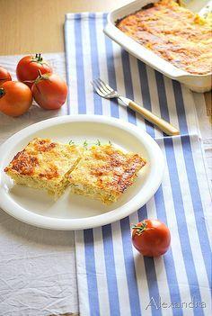 Quick and Easy Zucchini, Feta, and Yogourt pie