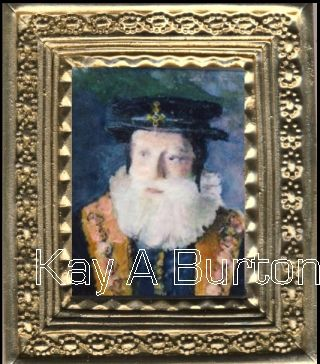 The 1st Baron Burghley - William Cecil (13 September 1521 – 4 August 1598) was an English statesman, the chief advisor of Queen Elizabeth I for most of her reign, twice Secretary of State (1550–1553 and 1558–1572) and Lord High Treasurer from 1572.  He was the founder of the Cecil dynasty which has produced many politicians including two Prime Ministers  Size approx. 45mm x 50mm (1 3/4