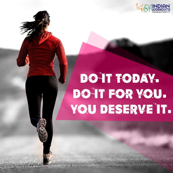 YOU. DESERVE. GOOD. HEALTH! Work towards it! #FitnessMotivation #IndianWorkouts