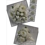 White Roses and Timeless Lace Posy