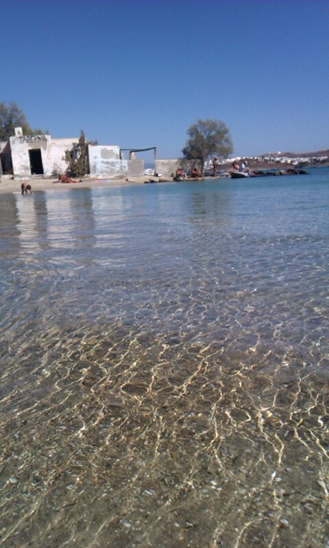 kolimbithres beach in Paros island in Greece