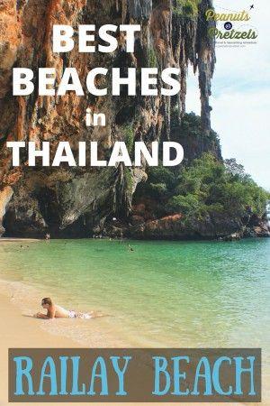 Best Beaches in Thailand - Railay Beach Tops Our List! - Peanuts or Pretzels Travel #Thailand #Railay #Beach