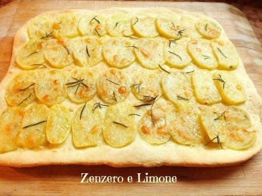 SCHIACCIATA con PATATE e PARMIGIANO - Zenzero e Limone